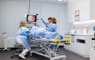 Darmspiegelung eines Patienten