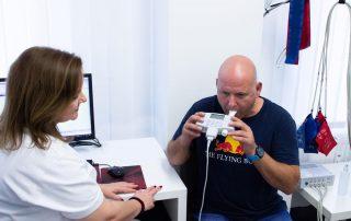 Lugenfunktionsuntersuchung eines Patienten
